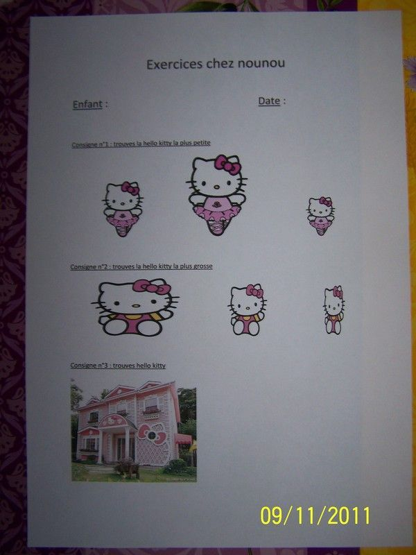 exercices hello kitty